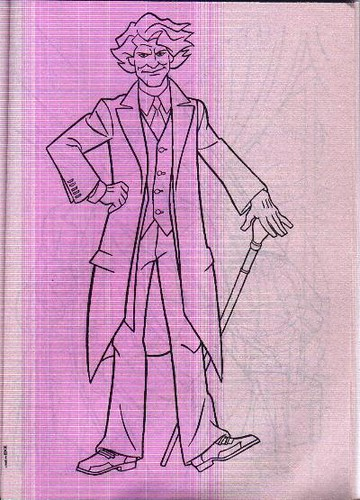 Full figure Joker page from The Knight Returns coloring book