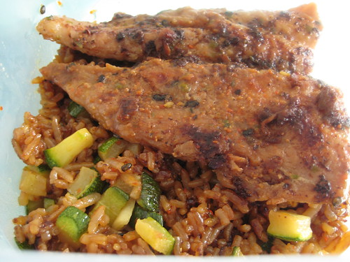 Fish with Fried Rice with Zucchini 2