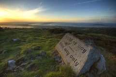right of way <- this way only (bazkeogh) Tags: sunset howth dublin landscape hdr