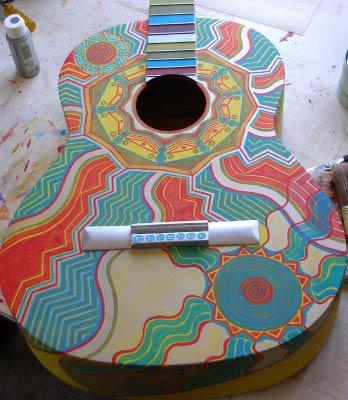 aboriginal modern art guitar manning lewis studios