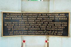 Cemetery I (lance36y) Tags: cemetery kanchanaburi kwai