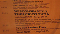 """Wisconsin Style"" pizza"