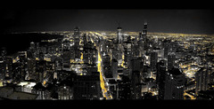 Panoramic view from the Signature Room (Menetnasht) Tags: leica panorama lake chicago streets tower beautiful night speed buildings john observation lumix restaurant pier illinois long exposure downtown slow view skyscrapers floor room sears signature panasonic deck observatory shutter hancock 95 picnik lightroom fz50 photomatix tonemapped alemdagqualityonlyclub