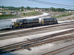 Two Belt Railway of Chicago EMD roadswitchers at work near the BRC West 68th Street Wye. Clearing Yard. Chicago Illinois. July 2007.