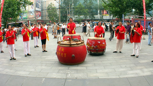 Drummers in Xian, Shaanxi Province, China