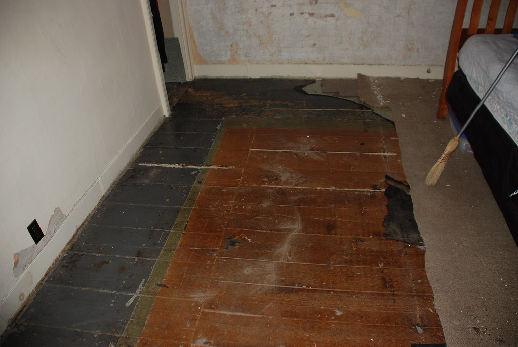Bedroom floor revealed.