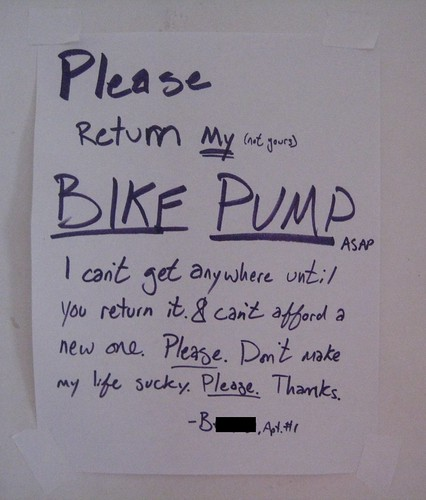 Please return My (not your) BIKE PUMP