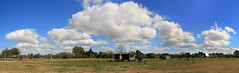 Panoramic Field with Clouds in Punta Indio - Panoramica del Campo con Nubes (Gabriel Robledo) Tags: sky panorama house argentina field grass clouds casa sigma panoramic pasto cielo panoramica nubes campo lonely 1770 solitaria goldenglobe puntaindio flickrsbest goldstaraward