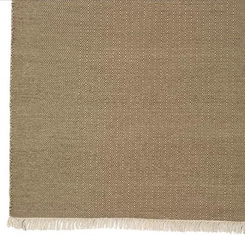 nomadic zigzag wool rug - detail