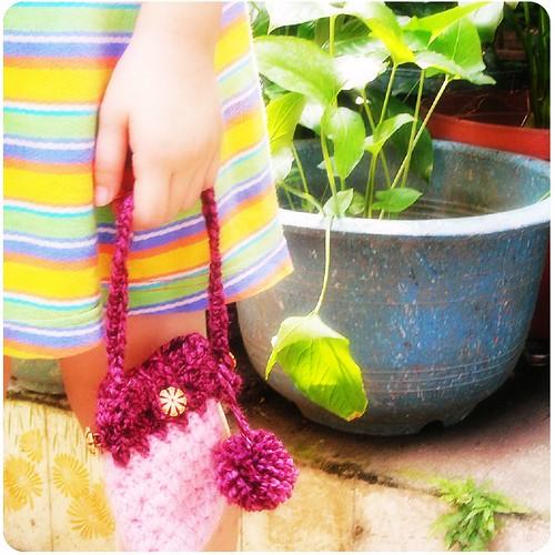 knit。手機袋。Mobile bag