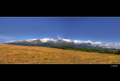 The wide panorama of the Slovakia  High Tatras (Mariusz Petelicki) Tags: panorama slovakia hdr canonefs1022mm photomatix słowacja canon400d 4x3xp tatrysłowackie mariuszpetelicki slovakiahighttatras