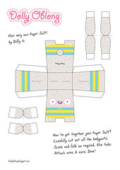 Paper Salt Pattern (Dolly Oblong) Tags: blue cute bunny yellow paper grey crazy pattern gray salt kawaii dolly template papertoy dollyoblong