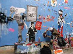 (tofz4u) Tags: streetart paris pasteup collage stencil belleville pochoir streeart artderue 75020 sarko rero pixalparazit raspouteam lafriche sarkoland mimitheclown epsylonpoint reroart