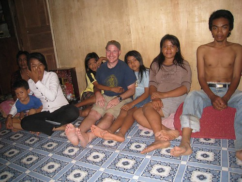 Quality time with my Cambodian guide's family