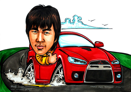 Caricature Mitsubishi Evo 10