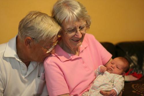 Granpa and Granpa Allen with Bea