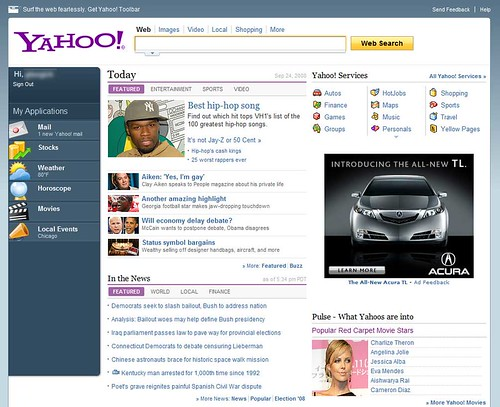 Yahoo's New Design