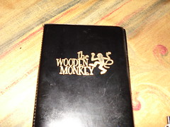 Wooden Monkey: bill holder