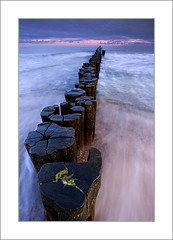 Wood II (hmnx) Tags: wood seascape clouds sunrise warnemnde balticsea groyne rostock 1118 1x