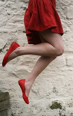 i jumped across for you (these thoughts spill over) Tags: red selfportrait feet girl jump shoes skirt