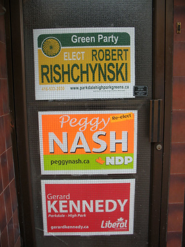 A Triple Play of Parkdale-High Park Election Signs