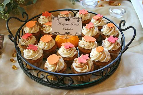 Pumpkin Pecan Cupcakes by Glorious Treats.