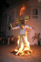 Burning the Ravana effigy - Udaipur