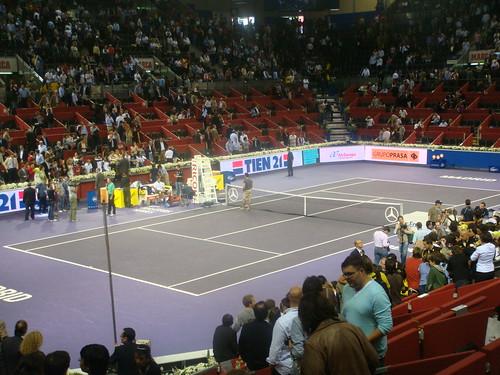 Final del Partido Federer y Del Potro