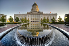 Utah Capitol (sudweeks) Tags: reflection water utah state wideangle capitol saltlakecity government sigma1224mm hdr d3 utahstatecapitol sigma1224mmf4556exdghsm