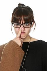 [フリー画像] [人物写真] [女性ポートレイト] [白人女性] [眼鏡/メガネ]       [フリー素材]