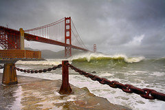 Rust and Surf # 2 - San Francisco (PatrickSmithPhotography) Tags: sanfrancisco california travel bridge sea wallpaper vacation usa seascape storm water architecture clouds landscape interestingness bravo marin wave goldengatebridge goldengate bayarea marincounty 5d sanfranciscobay sausalito 1740l ggb extremephotography landscapephotography topf1000 seascapephotogrpaphy