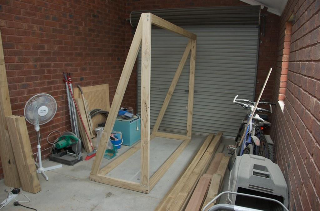 Shade awning frame
