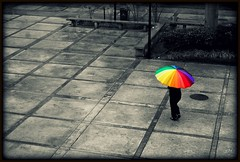 Rainbow in the dark (iz4) Tags: rain arcoiris umbrella dark lluvia rainbow sony pride dio usm soe regenschirm challengeyouwinner universidadsantamara colorphotoaward aplusphoto goldstaraward multimegashot damniwishidtakenthat colorfullaward gorgeousgreenthursday paololivornosfriends