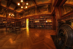 The Old Library II ((Erik)) Tags: light money holland color colour reflection lamp museum architecture painting table photography reading 1 book interestingness utrecht mood floor chairs pentax library paintings thenetherlands atmosphere wideangle books fisheye forbidden explore lamps hdr peleng 3xp peleng8mm nedeland k100d ddd3 pentaxk100d pelengfisheye hetgeldmuseum hdrmy dolledokadonderdag theoldlibraryii themoneymuseum happybooster readtable fffffwachtenditwordt1