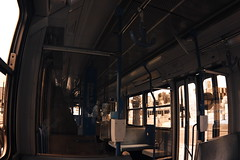 Tram - inside view (beleobus) Tags: ir harbor waterfront harbour melbourne infrared docklands