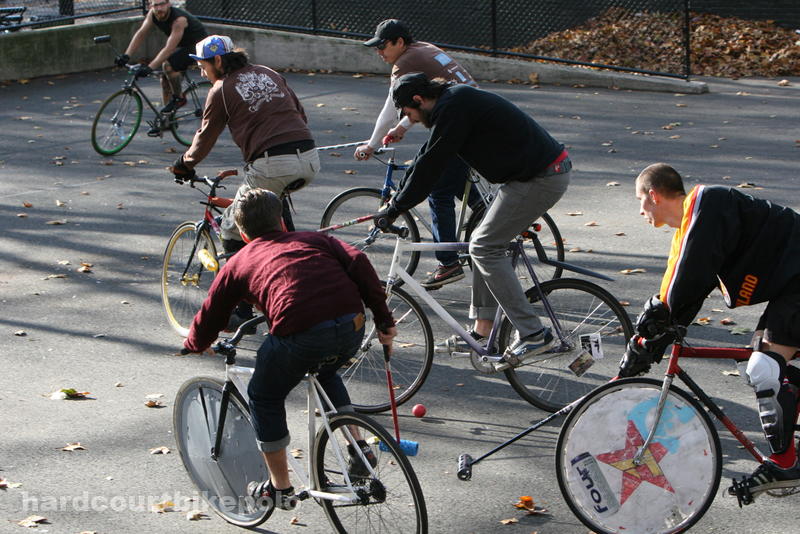 bike polo nyc 11-9-2008 traffic