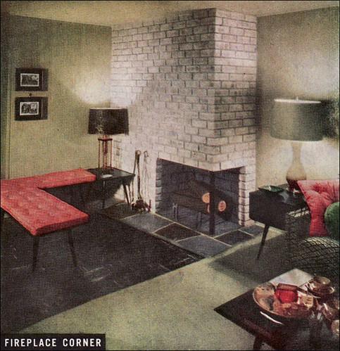 1950 Fireplace Corner