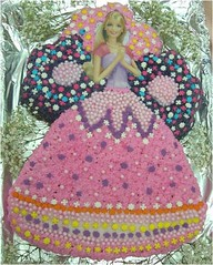 Donna's Barbie Cake (Bake It Yourself) Tags: cake store shaped barbie it pearls sugar pan bake yourself quins biy