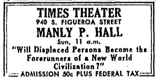 Times Theater Ad