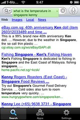 """Google Voice: """"What is the temperature in Singapore"""""""
