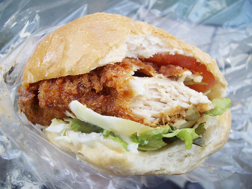 spicy chicken sammy from cafe zaiya