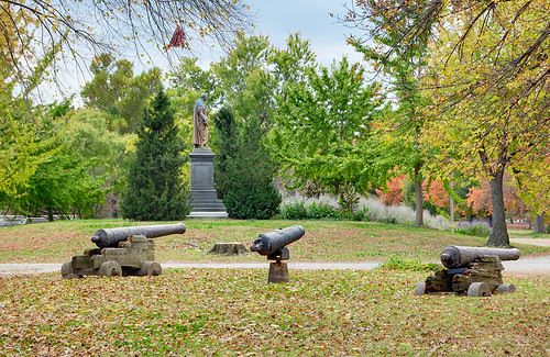 Lafayette Square Neighborhood, in Saint Louis, Missouri, USA - Lafayette Park cannons