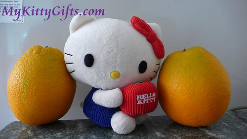 Hello Kitty and Large Birthday Oranges from Friends in GuangZhou