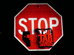 Stop the tar sands sign