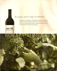 Robert Mondavi Winery -- Over-the-Top Ad (ATIS547) Tags: california sunset horse robert magazine advertising marketing back bottle garbage hands worship wine bs ad bad advertisement winery vision cover valley shit hero passion napa horrible capitalism copy awful grape bullshit manure mondavi marketer pileofcrap