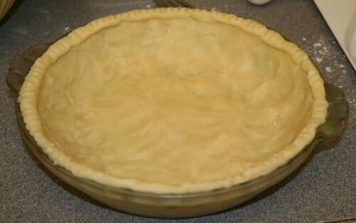 Make the pie crust.