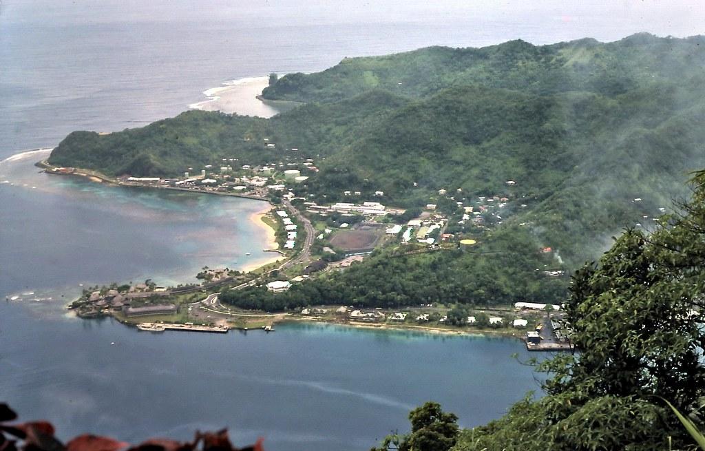 gm 00123 Samoan view over Pago Pago Harbor 1974