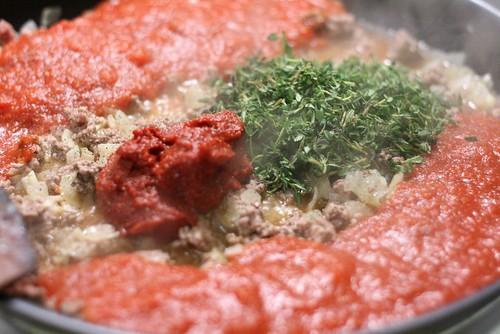 Sauce à l'agneau & à la tomate