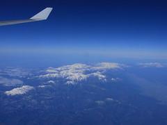 上空から見た北アルプス