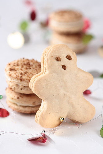 Gingerbread Men Macarons